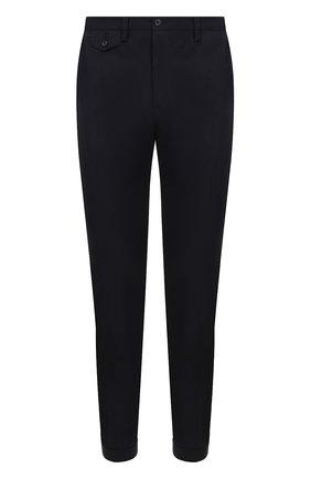 Хлопковые брюки прямого кроя Dolce & Gabbana синие | Фото №1