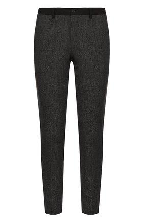 Хлопковые брюки с контрастными лампасами