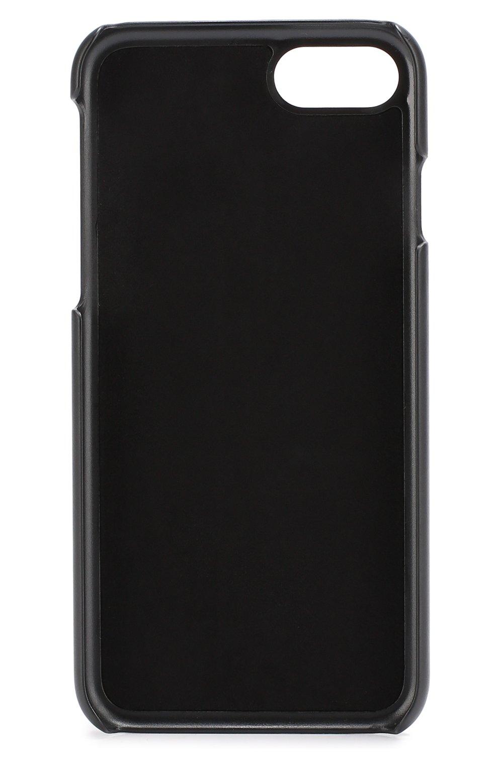 Кожаный чехол для iPhone 7с принтом Dolce & Gabbana  | Фото №2
