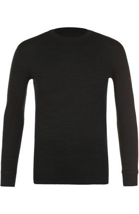 Шерстяная футболка с длинным рукавом | Фото №1