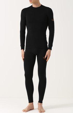 Мужские шерстяная футболка с длинным рукавом NORVEG черного цвета, арт. 3U1RLRU | Фото 2