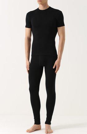 Мужские шерстяная футболка с круглым вырезом NORVEG черного цвета, арт. 14SM3RSRU | Фото 2