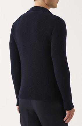 Пуловер из смеси шерсти и кашемира с отложным воротником   Фото №4