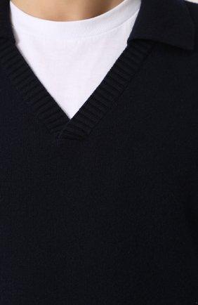 Пуловер из смеси шерсти и кашемира с отложным воротником   Фото №5