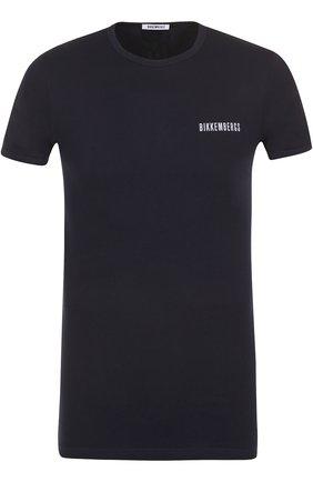 Мужская комплект из двух хлопковых футболок с круглым вырезом DIRK BIKKEMBERGS темно-синего цвета, арт. B41308T48 | Фото 1