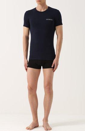 Мужская комплект из двух хлопковых футболок с круглым вырезом DIRK BIKKEMBERGS темно-синего цвета, арт. B41308T48 | Фото 2