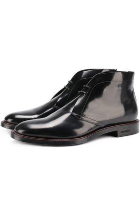 Лаковые ботинки на шнуровке | Фото №1