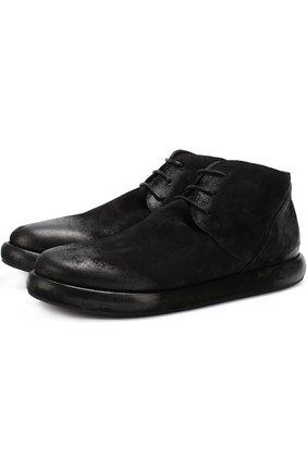 Замшевые ботинки с эффектом состаривания