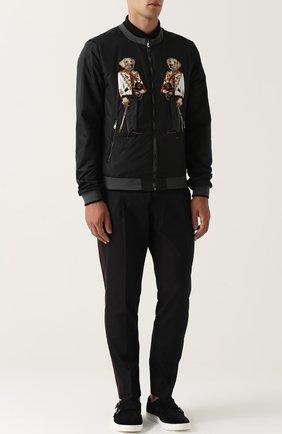 Замшевые кеды London с ремешками Dolce & Gabbana черные | Фото №2