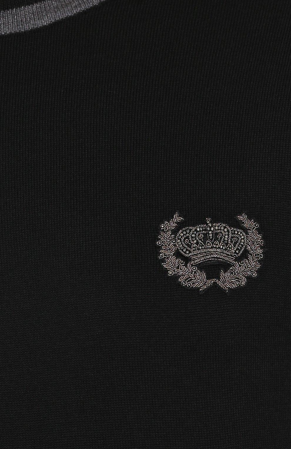 Шерстяной джемпер с вышивкой   Фото №5