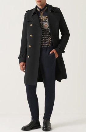 Классические кожаные челси Marsala Dolce & Gabbana черные | Фото №2