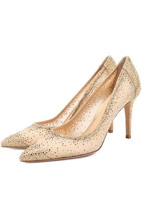 Туфли с кристаллами Swarovski на шпильке | Фото №1