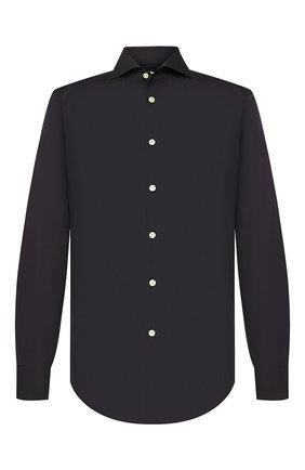 Мужская хлопковая сорочка KITON черного цвета, арт. UCIH000310700H | Фото 1
