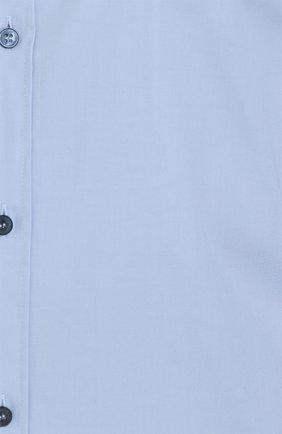 Хлопковая сорочка с воротником кент Dolce & Gabbana голубая | Фото №5