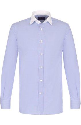 Мужская хлопковая сорочка с воротником кент RALPH LAUREN белого цвета, арт. 791668665 | Фото 1