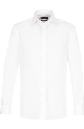 Мужская хлопковая сорочка с воротником кент RALPH LAUREN белого цвета, арт. 791669882 | Фото 1