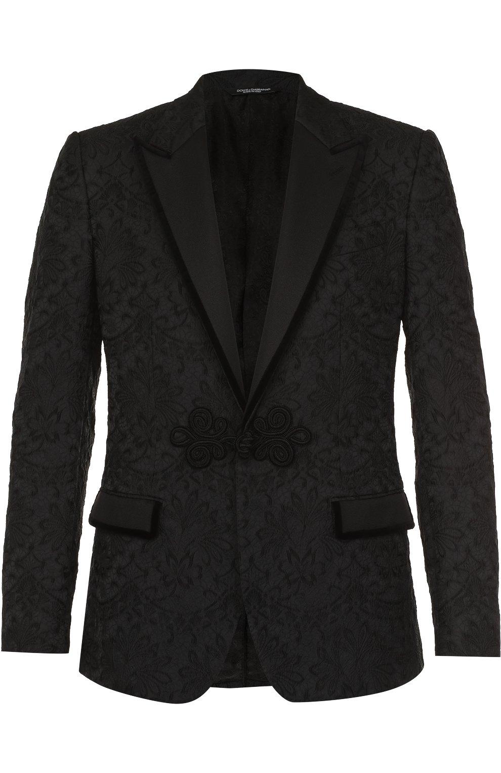 Кружевной приталенный пиджак | Фото №1
