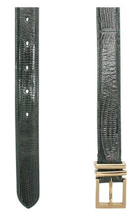 Кожаный ремень с металлической пряжкой   Фото №2