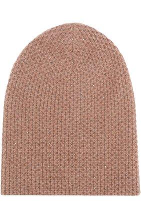 Кашемировая вязаная шапка с отделкой стразами Swarovski | Фото №1