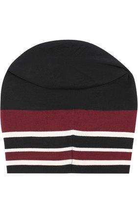 Шерстяная вязаная шапка с вышивкой Dolce & Gabbana черного цвета | Фото №2