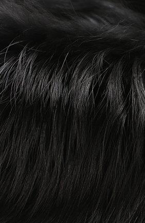 Воротник из меха лисы Simonetta Ravizza черный | Фото №2
