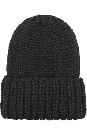 Шерстяная шапка фактурной вязки Karakoram accessories черного цвета   Фото №1