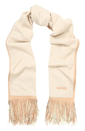 Кашемировый шарф с кожаной отделкой | Фото №1