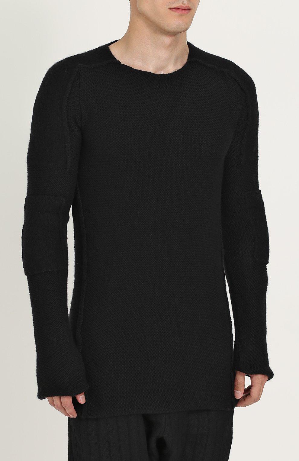 Вязаный пуловер с круглым вырезом | Фото №3