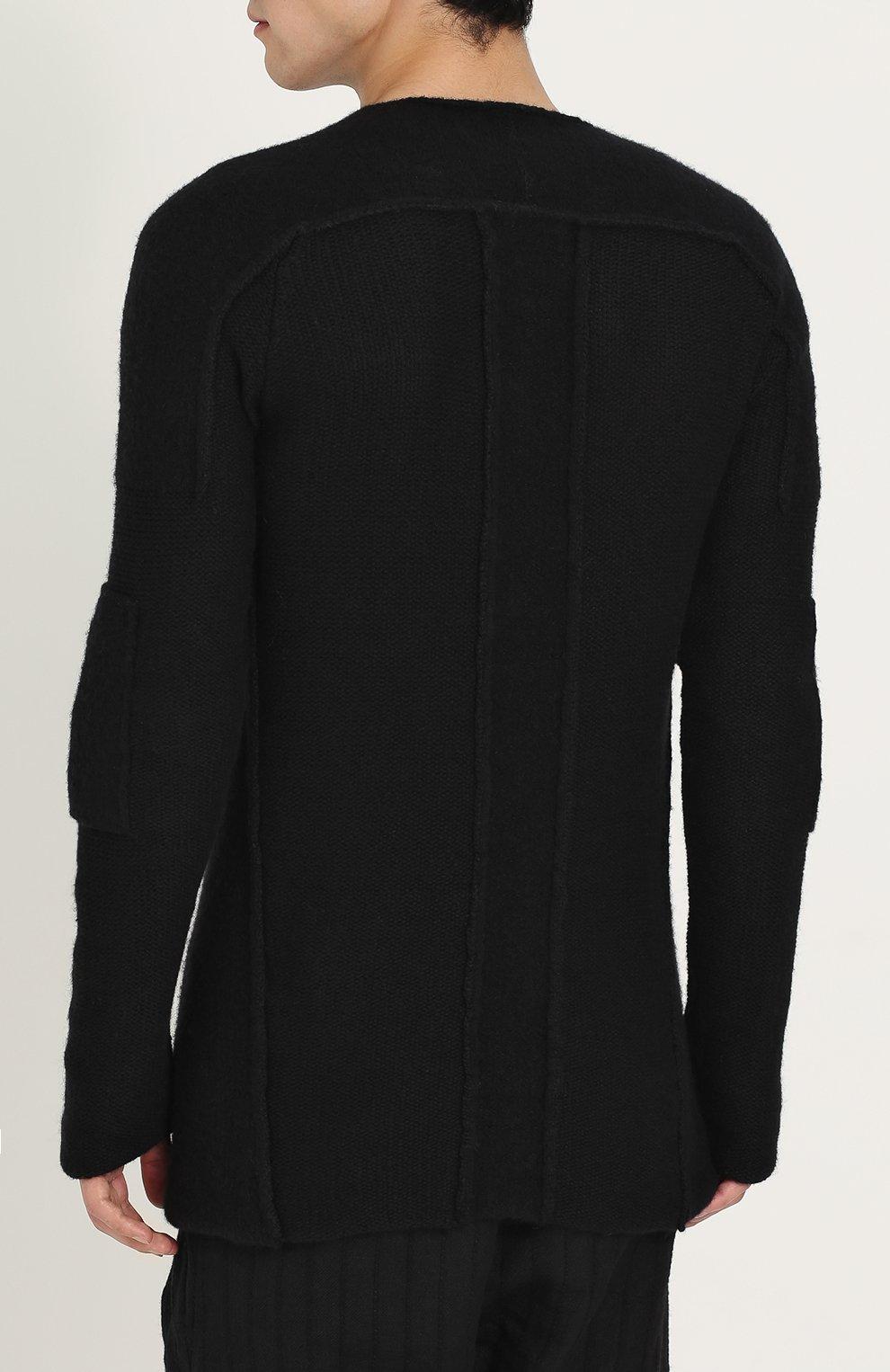Вязаный пуловер с круглым вырезом | Фото №4