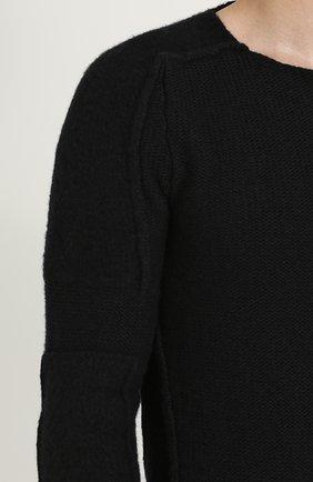 Вязаный пуловер с круглым вырезом | Фото №5