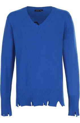 Пуловер из смеси шерсти и кашемира свободного кроя | Фото №1