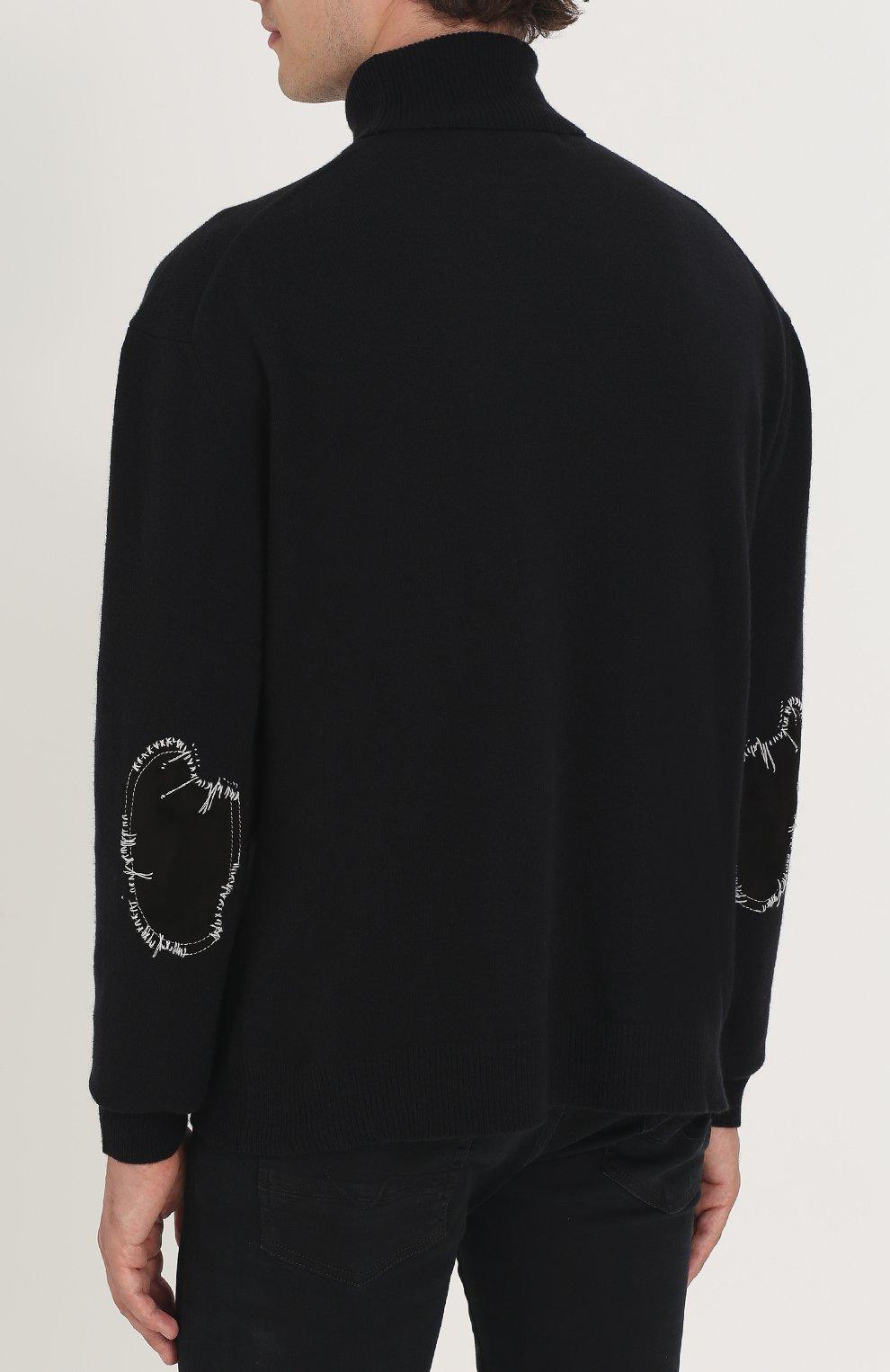 Свитер из смеси шерсти и кашемира с замшевыми заплатками | Фото №4
