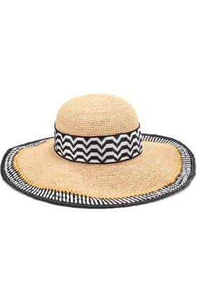 Пляжная шляпа из смеси вискозы и соломы | Фото №1