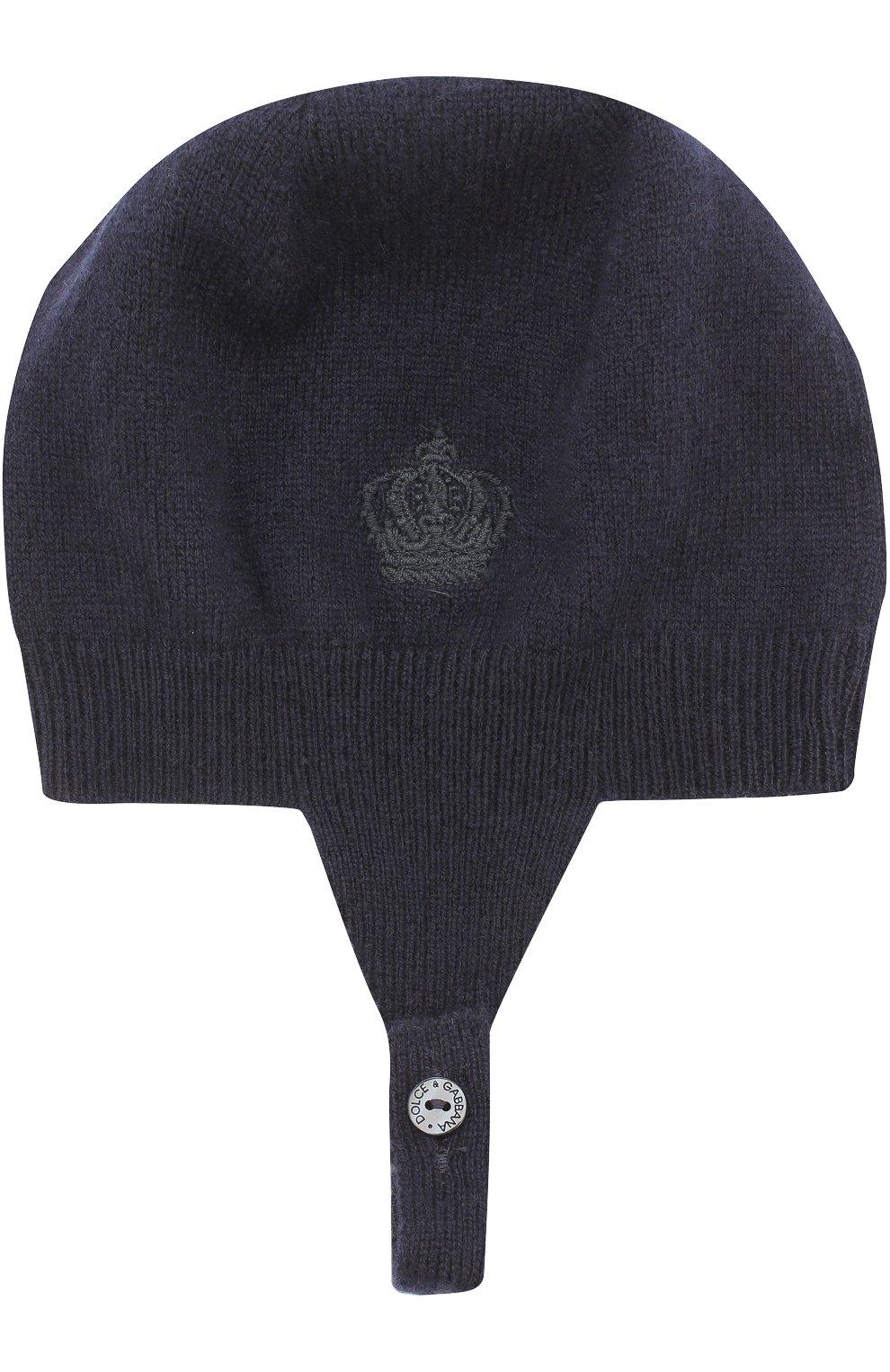 Кашемировая шапка с вышивкой | Фото №1