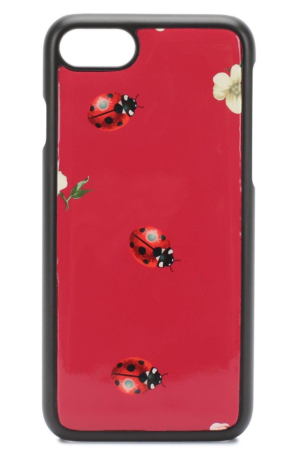 Кожаный чехол для iPhone 7 с принтом   Фото №1