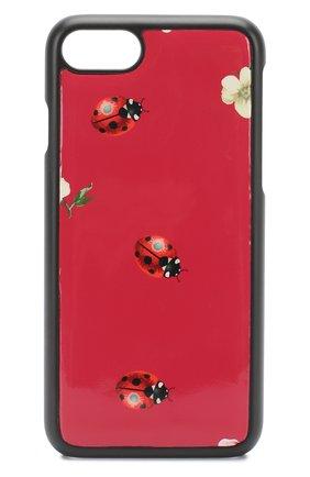 Кожаный чехол для iPhone 7 с принтом Dolce & Gabbana    Фото №1