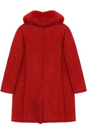 Дубленка из овчины и кролика Dolce & Gabbana красного цвета | Фото №2