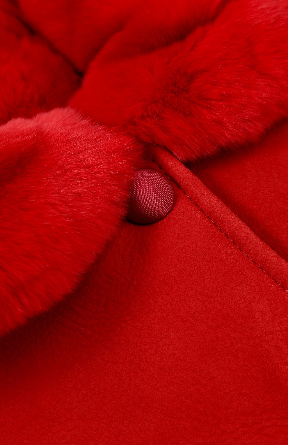 Дубленка из овчины и кролика Dolce & Gabbana красного цвета | Фото №3