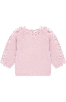 Шерстяной пуловер с бахромой | Фото №1