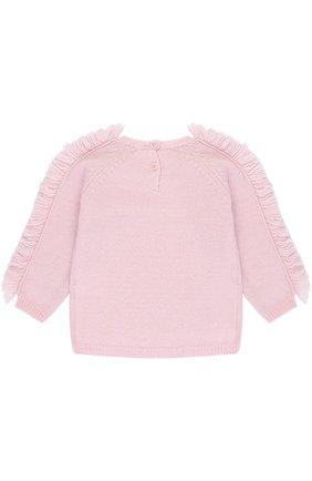 Шерстяной пуловер с бахромой | Фото №2