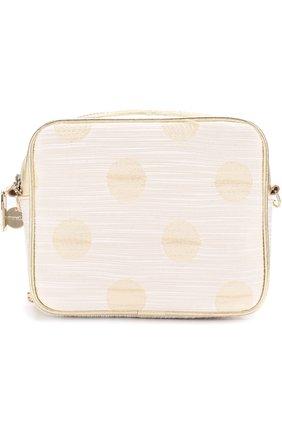 Детская текстильная сумка с принтом и кожаной отделкой на цепочке SIMONETTA золотого цвета, арт. 1H0158/HD630   Фото 1