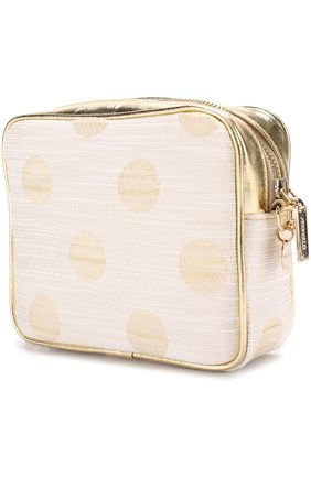 Детская текстильная сумка с принтом и кожаной отделкой на цепочке SIMONETTA золотого цвета, арт. 1H0158/HD630   Фото 2