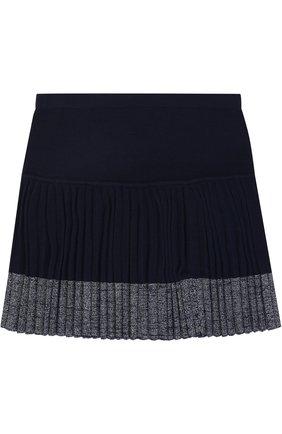Вязаная мини-юбка с плиссированной вставкой | Фото №2