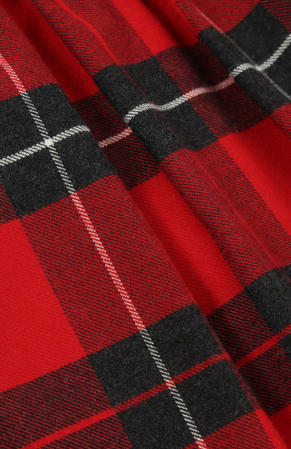Детская хлопковая мини-юбка в клетку Dolce & Gabbana красного цвета | Фото №3