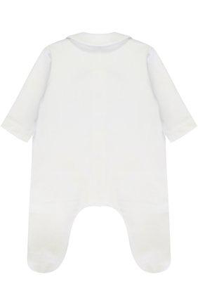 Хлопковая пижама с контрастной отделкой и декоративным галстуком-бабочкой | Фото №2