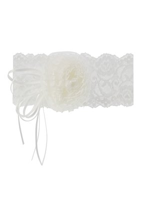 Кружевная повязка на голову с декором | Фото №1