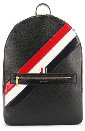 Кожаный рюкзак с контрастной отделкой