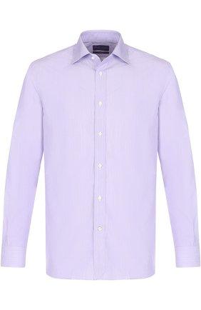 Мужская хлопковая сорочка с воротником кент RALPH LAUREN сиреневого цвета, арт. 791668730 | Фото 1