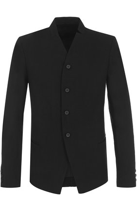 Однобортный пиджак из смеси шерсти и льна   Фото №1