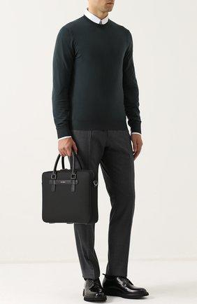 Сумка для ноутбука Mediterraneo с плечевым ремнем Dolce & Gabbana черная | Фото №2